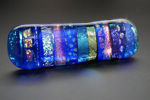 Blue, Magenta & Yellow Multicolor Dichroic Glass Scarf Magnet