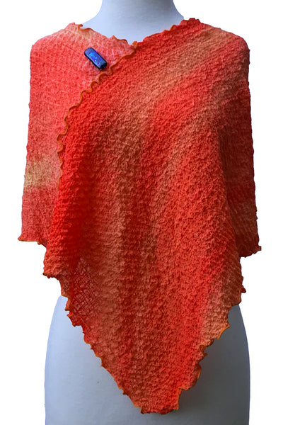 In Vogue Changeable Over-the-Shoulder Silk Poncho