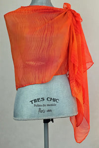 Fresh Orange Silk Wrap