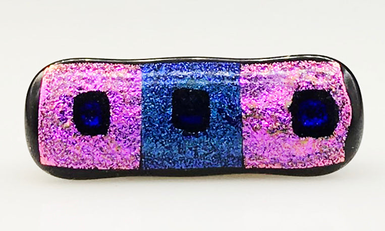 Pink and Blue Dichroic Scarf Magnet