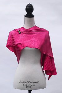 Knockout Pink Silk Wrap | Shawl
