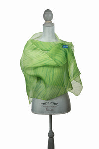 Soothing Green Silk Wrap