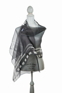 Elegant Black and White Silk Wrap