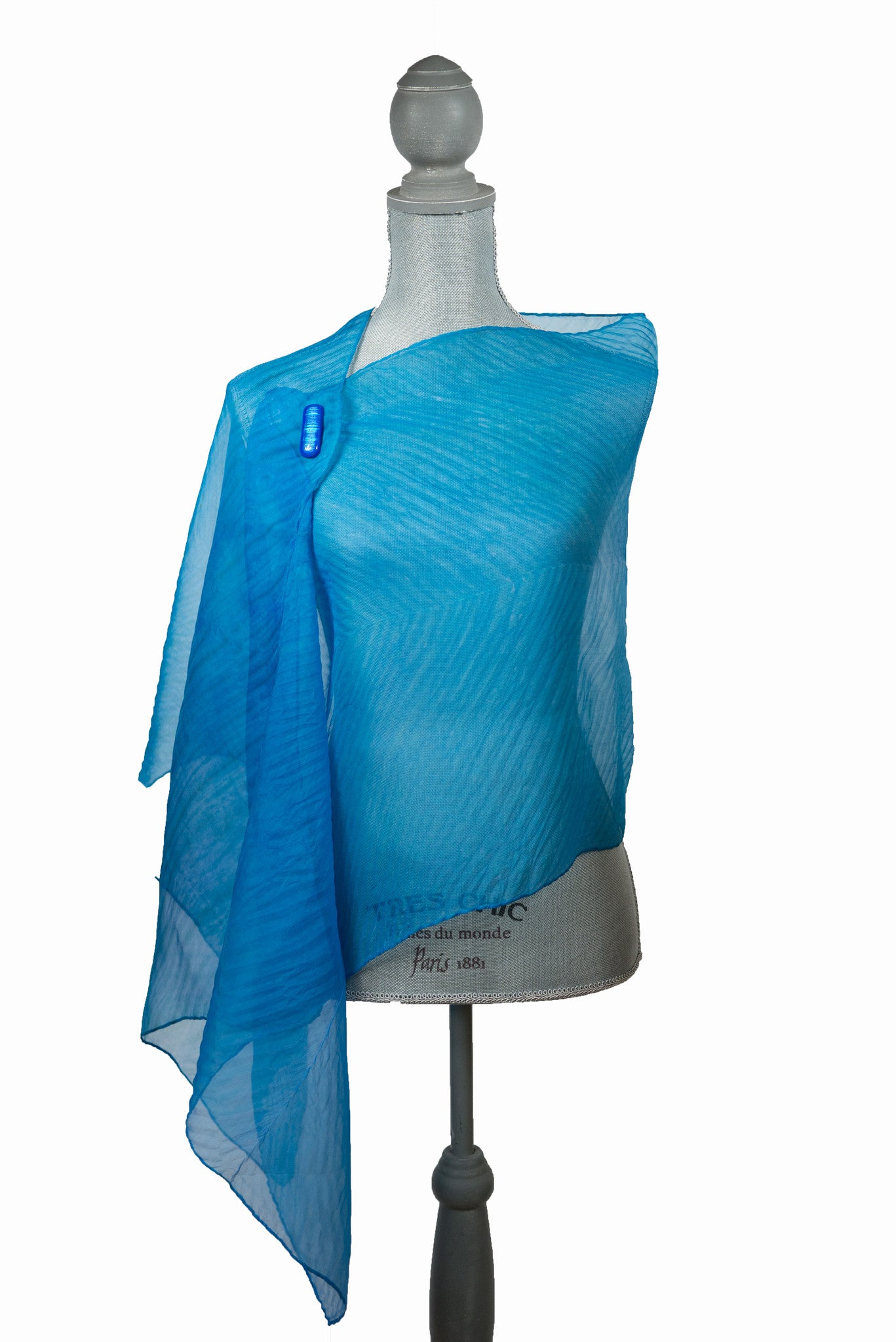Exquisite Turquoise Silk Wrap | Shawl