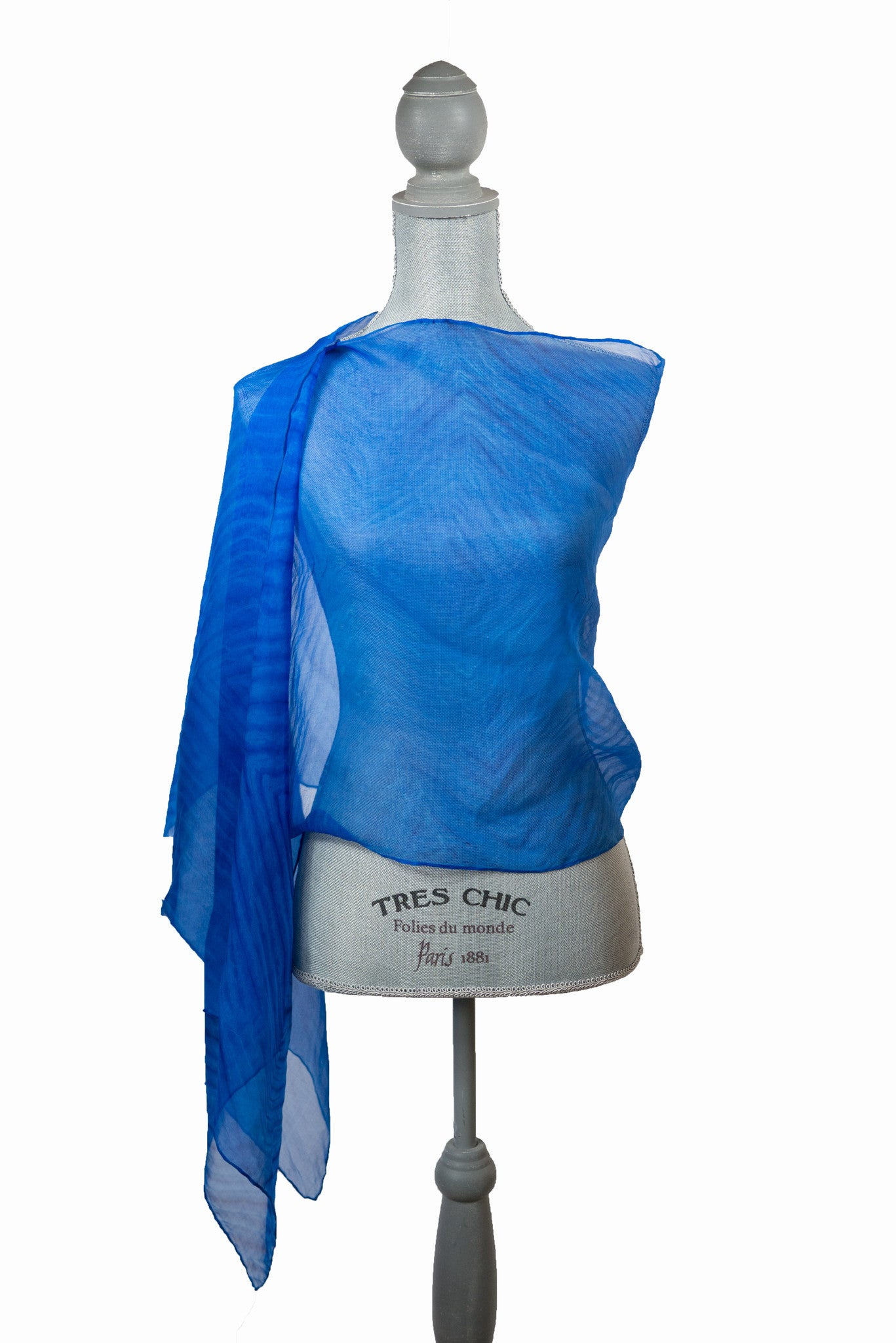 Gorgeous Bright Blue Silk Wrap | Shawl