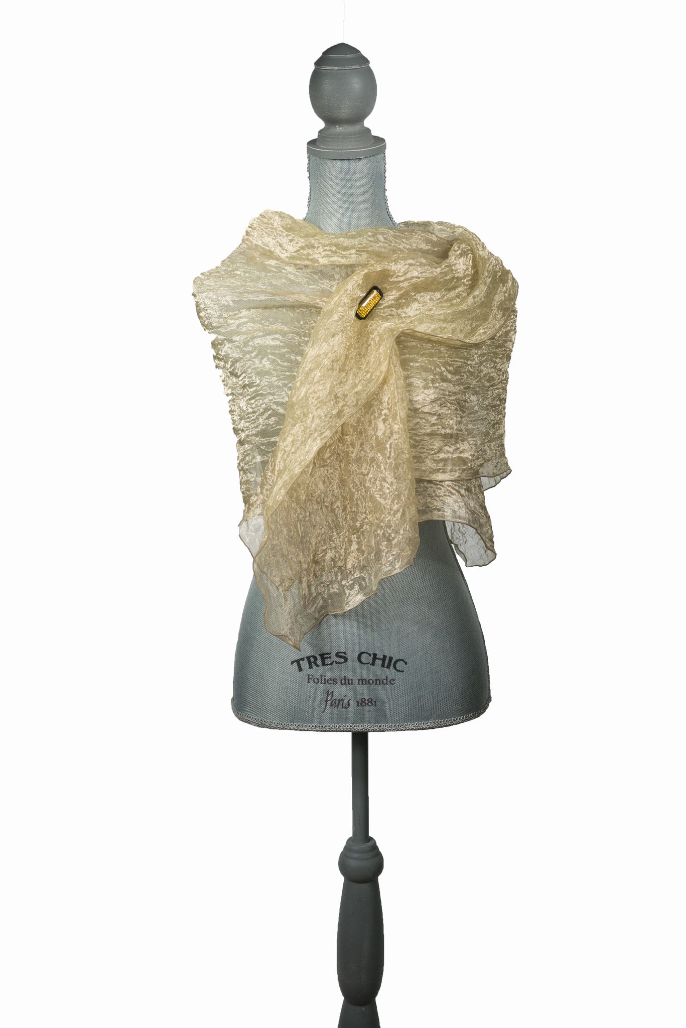 Majestic Gold Silk Wrap-Poncho