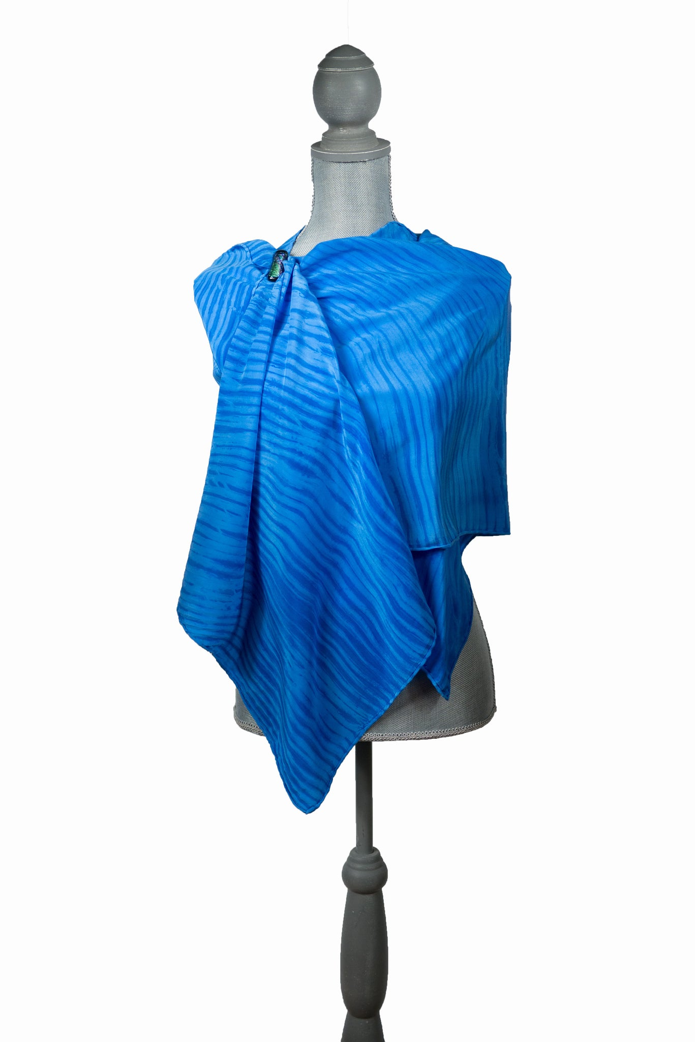 Magnificent Blue Silk Wrap | Shawl