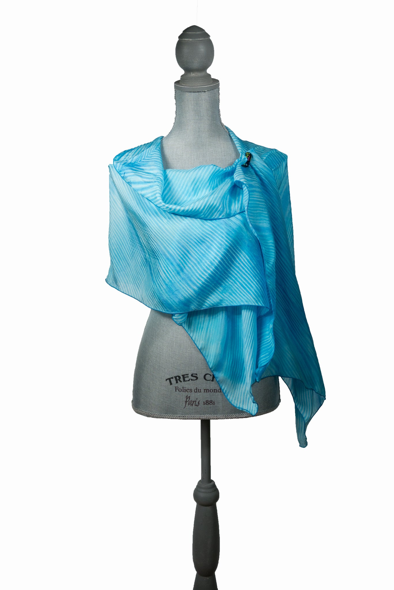 Eye-Catching Turquoise Silk Wrap | Shawl