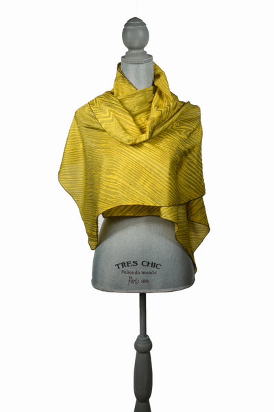 Splendorous Gold Silk Wrap | Shawl