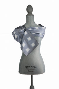 Delightful Grey Silk Wrap | Shawl