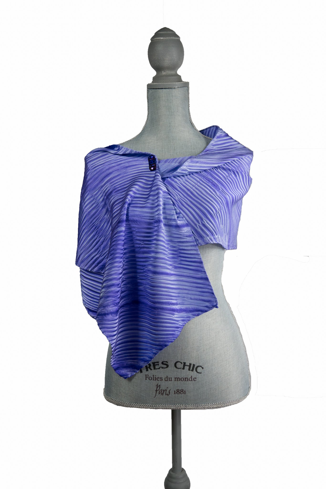 Delightful Purple Silk Wrap | Shawl