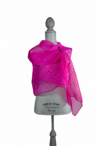 Tantalizing Bright Pink Silk Wrap | Shawl