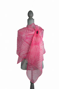 Entrancing Pink Silk Wrap | Shawl