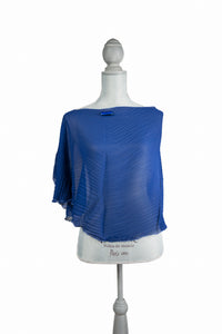 Refined Blue Poly-Silk* Poncho