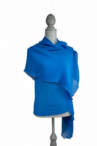 Suave Blue Poly-Silk Wrap