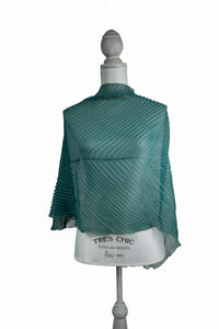 Posh Green Poly-Silk* Poncho