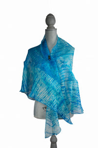 Captivating Turquoise Ruffled Wrap-Poncho