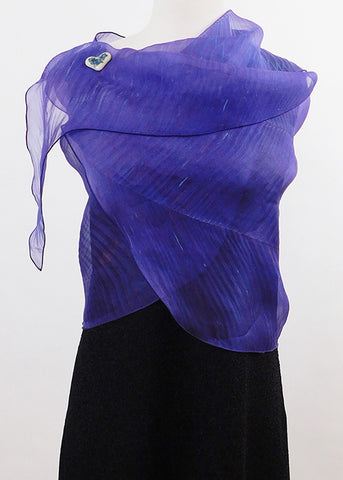Entrancing Purple Silk Organza Wrap