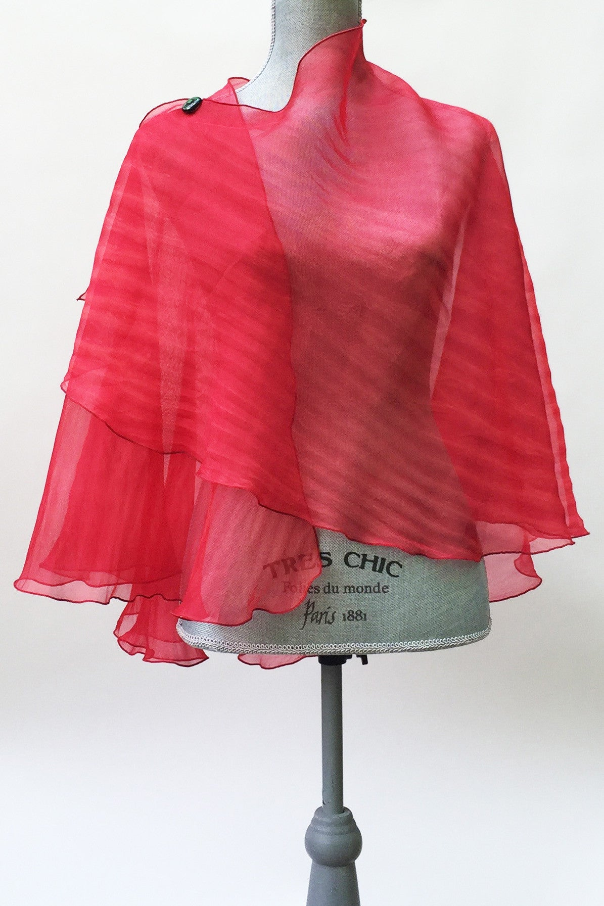 Spicy Red Silk Cape