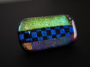 Green, Blue & Purple Multicolor Dichroic Glass Scarf Magnet