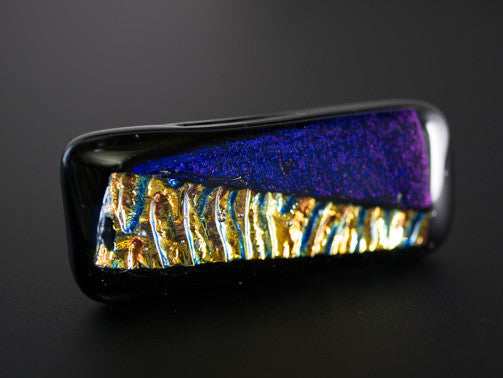 Gold & Purple Dichroic Glass Scarf Magnet