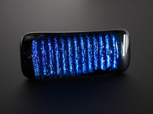 Blue & Black Dichroic Glass Scarf Magnet