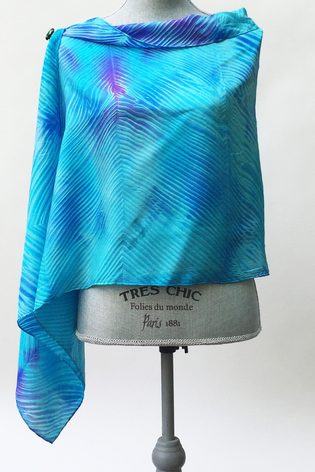 Breathless Turquoise Silk Wrap