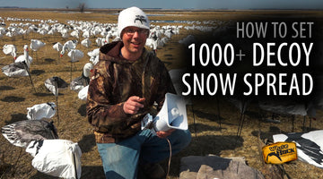 How To Set a 1000+ Decoy Snow Goose Spread