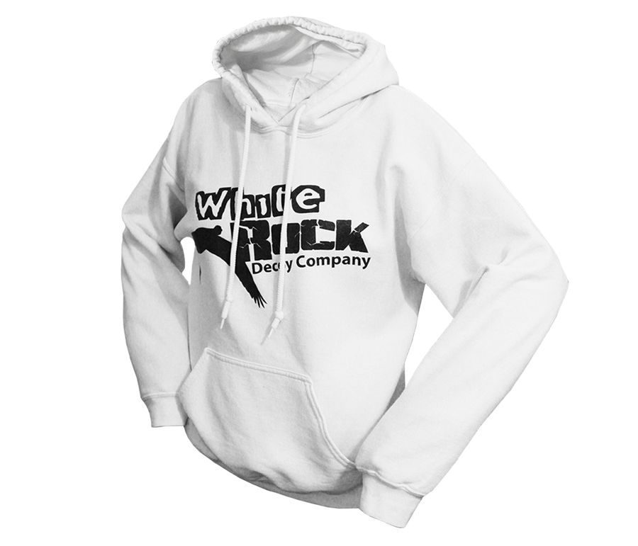 White Logo Hooded Sweatshirt