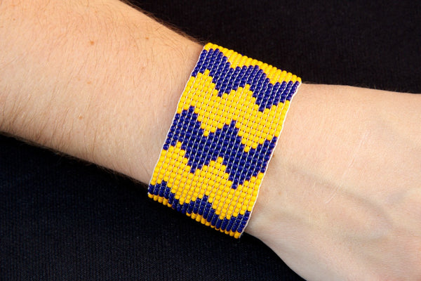 Blue/Yellow Chevron
