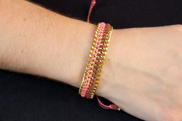 Pink/Brown Chain