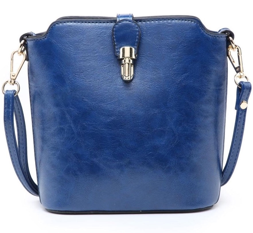 Cross Body Bag Fold Over Clasp - 5 Colours