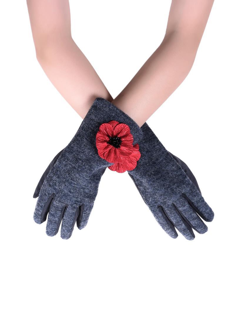 Poppy Gloves - Grey