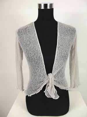 Knitted Shrug Cardigan - White