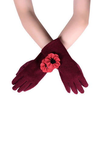 Poppy Gloves - Wine