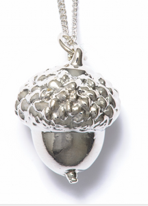Acorn Silver Plated Pendant