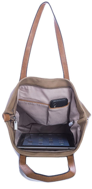Ladies Tote Bag - Tan