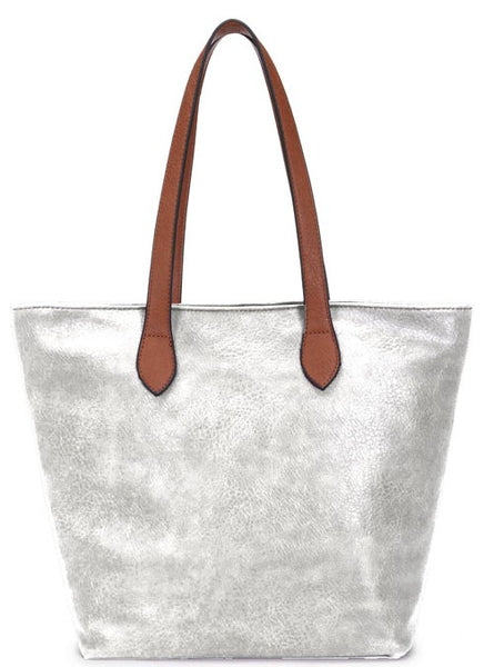 Ladies Tote Bag - Silver