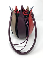 By-Lin Tulip Leather Bag - Plum/Red/Blue/Taupe
