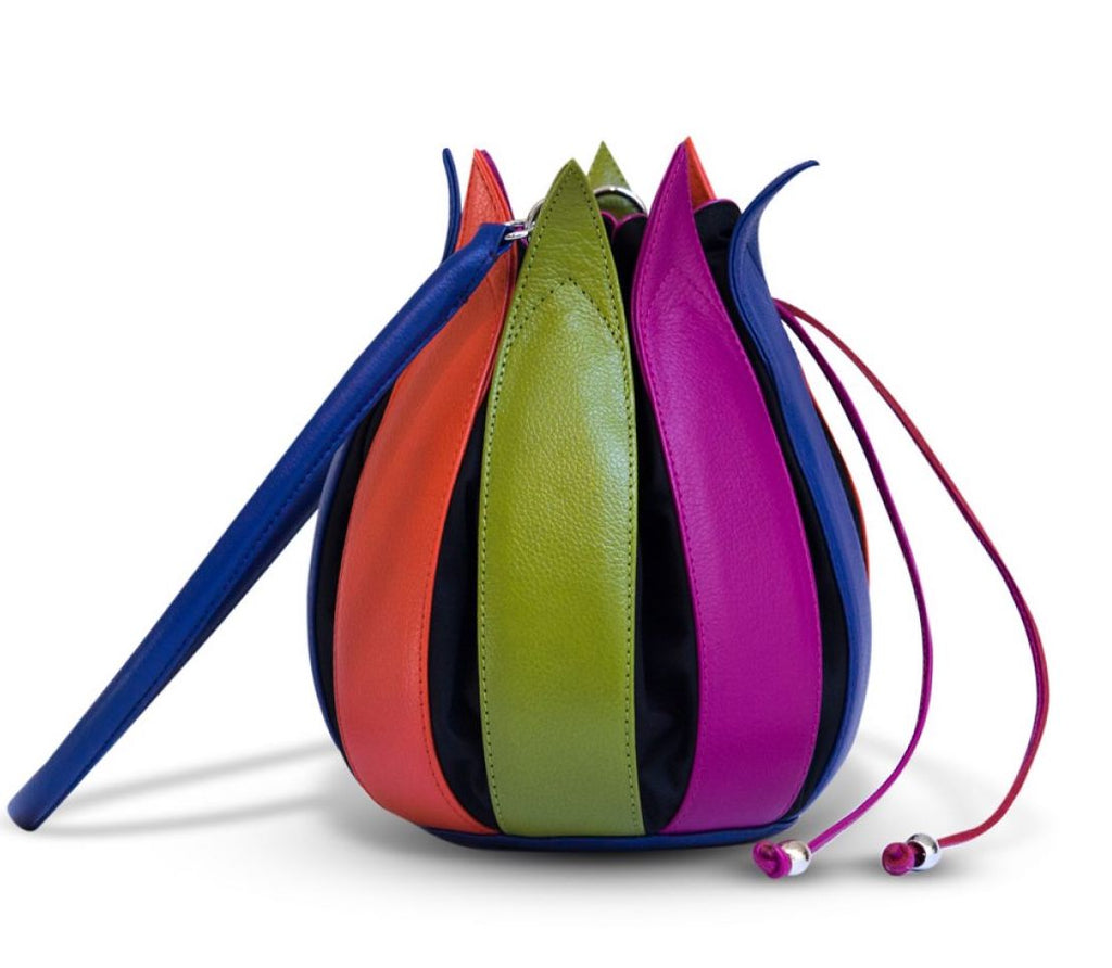 Tulip Leather Bag - Multi Coloured - Medium