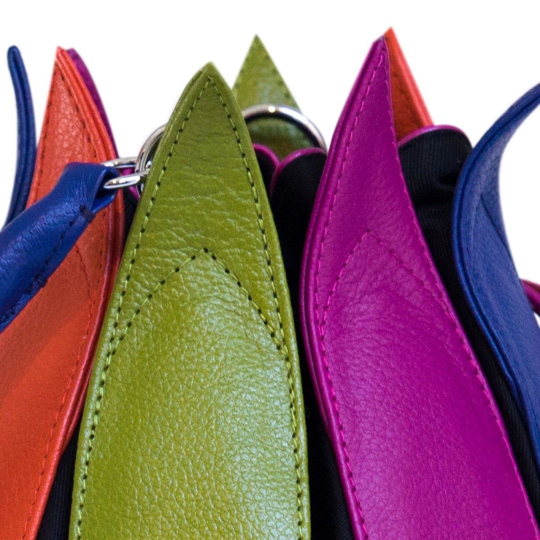 By-Lin Tulip Leather Bag - Multi Coloured