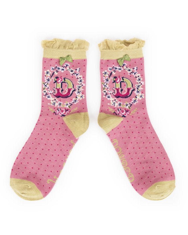 A-Z  Ladies Powder Socks - D