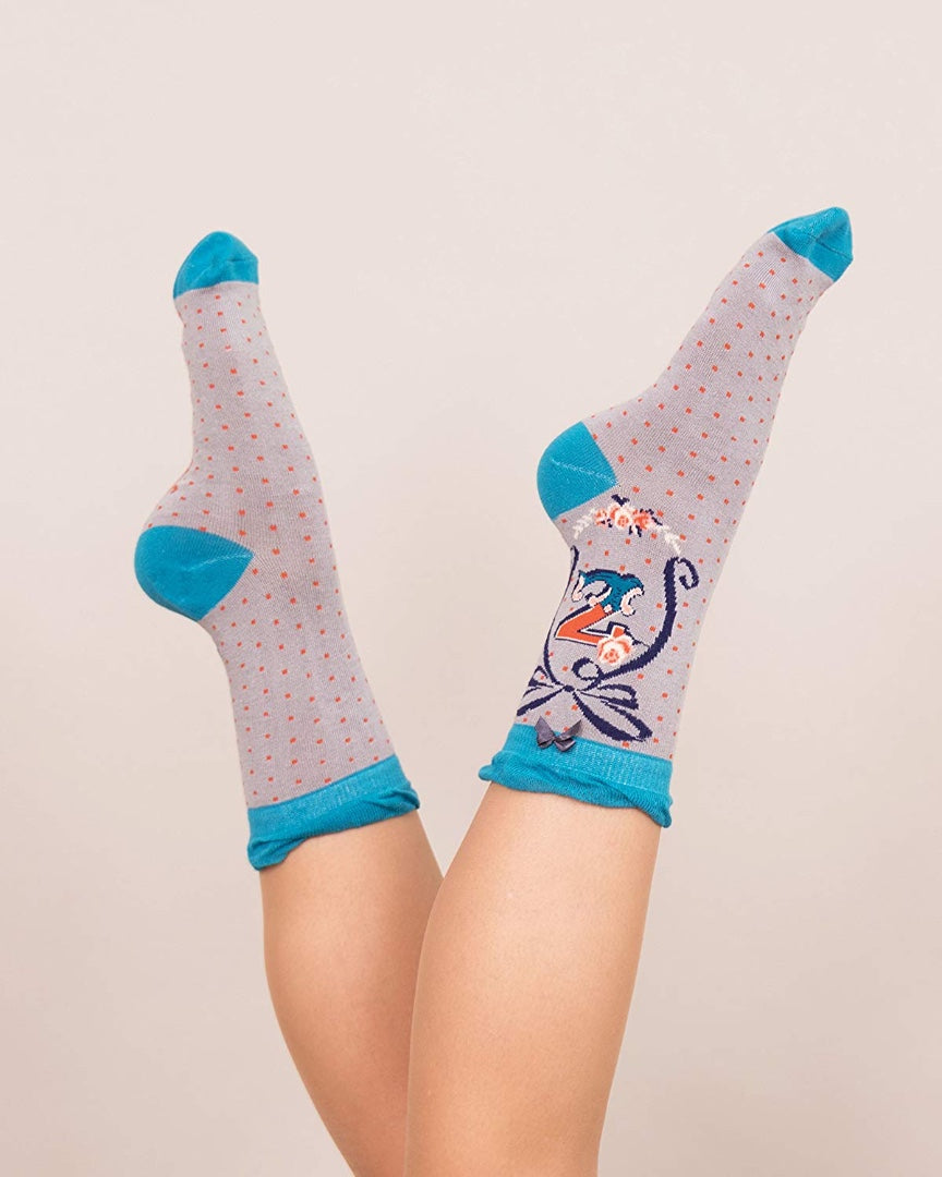 A-Z Ladies Powder Socks - Z