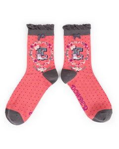 A-Z Ladies Powder Socks - E