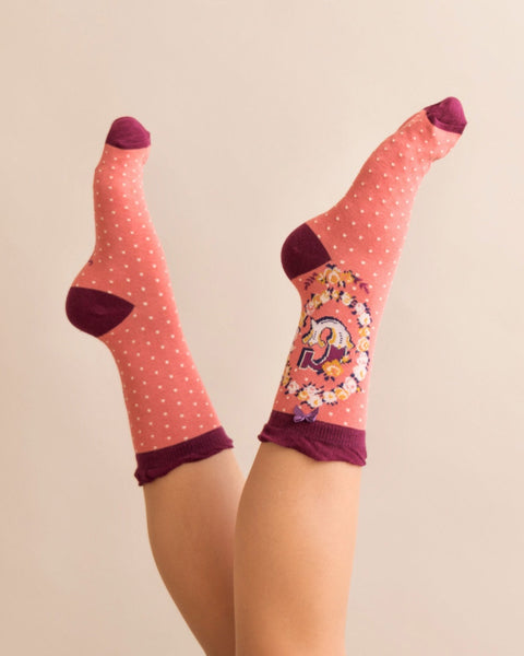 A-Z Ladies Powder Socks - G