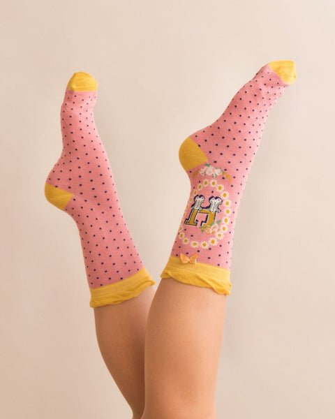 A-Z Ladies Powder Socks - H