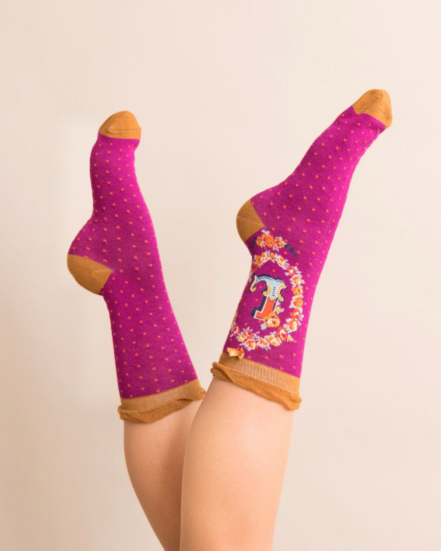 A-Z  Ladies Powder Socks - L