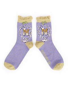A-Z  Ladies Powder Socks - N