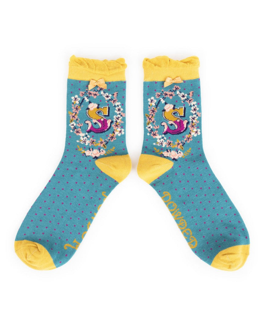 A-Z  Ladies Powder Socks - S