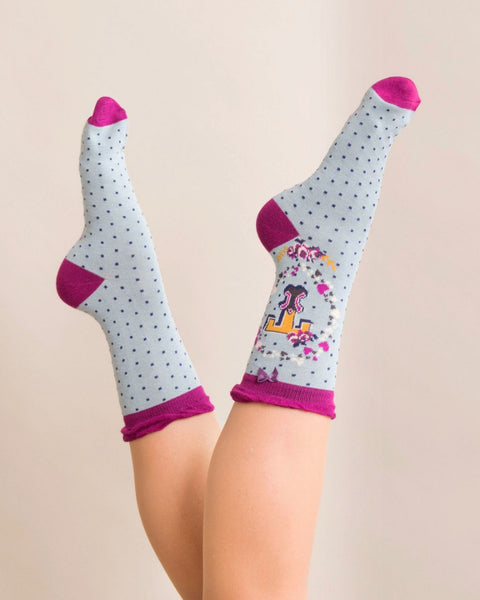 A-Z  Ladies Powder Socks - T